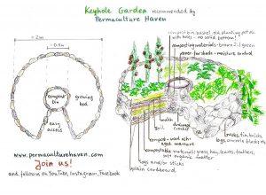 Permaculture Gardening – Keyhole Garden